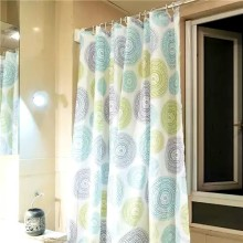 Shower Curtain PEVA Green Rings