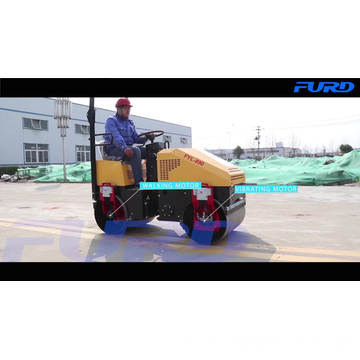 Tandem Vibratory Asphalt Mini Roller Smooth Drum Road Roller Machine