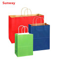Large kraft shopping bags