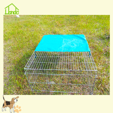 Wire Rabbit Cages With Green Cover