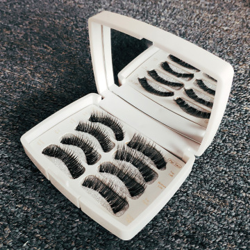 2 pair magnetic eyelashes BLACK THREE magnet