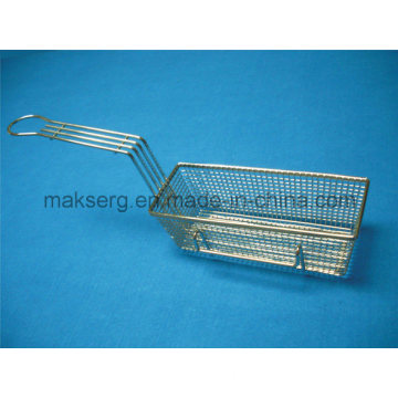Steel Fry Basket 11′′ Mesh Basket Rectangle