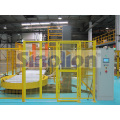 Rotary arm pallet stretch wrapper machine