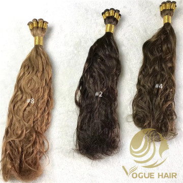 Natural wave hand tied weft hair extensions