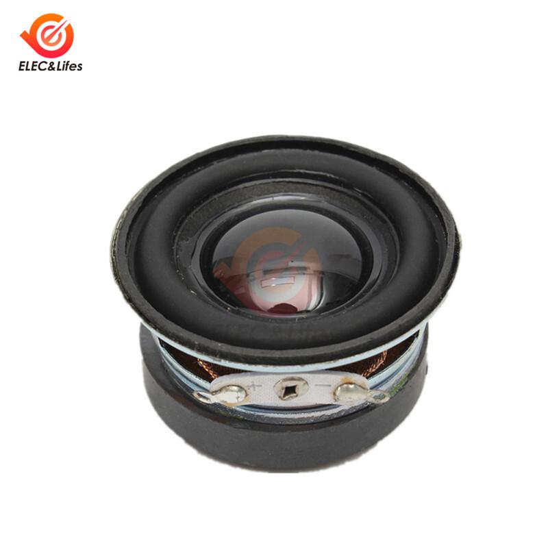 2Pcs 40mm Acoustic Speaker 4Ohm 3W Speaker 36MM External Magnetic Black Hat PU Edge Acoustic Components