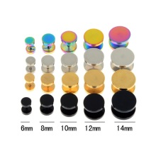 Fake Cheater Stainless Steel Ear Plugs Gauge