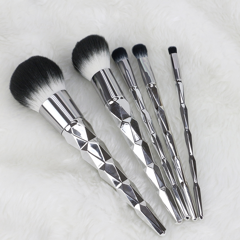 Sliver 5 Pcs Makeup Brush