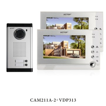 7 inch wired door video intercom system