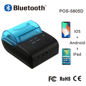 Portable Mini Bluetooth Thermal Receipt Printer Ticker Printer For Mobile Phone Android iOS Windows 58mm