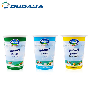 wholesale 5oz frozen yogurt plastic cup foil