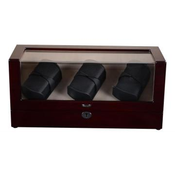 Six Watch Winder Case Automatic Box