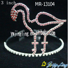 Pink Rhinestone Animal Bird Custom Tiaras