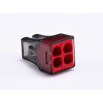 Push Wire Connector 4 Poles Black Red Housing