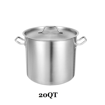 20QT Commercial Grade STOCKPOT With Lid