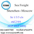 Shenzhen Port Sea Freight Shipping To Moscow