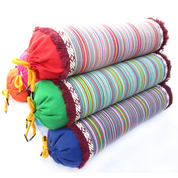 Lace Buckwheat Pillow Neck Protection Stripe Candy Cylindrical Neck Pillow Cervical Spine Physiotherapy Health Pillow