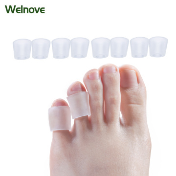 4 Pairs Fingers Protector Corn Protector Corrector Hammer Toe Separator Gel Sleeves Corn Eye Care Open Toe Tail Foot Care D1326