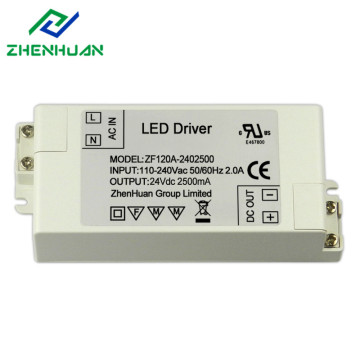 60W 24V 2.5A White Led Light Driver Transformer