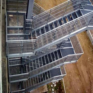 Steel Grid Fire Escape Stairs Fire Stair