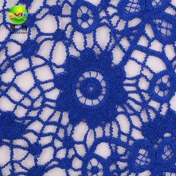 hot sale instock dyed chemical embroidery lace fabric