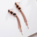 Latest Long Chain Tassel Earrings For Women