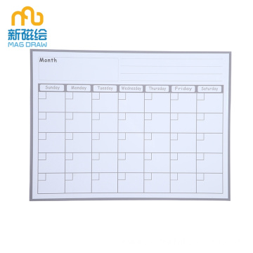 Monthly Dry Erase Calendar Marker Board for Refrigerator