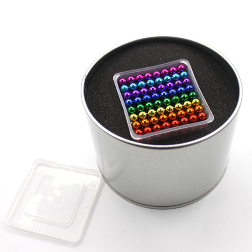 Colorful  magnet balls with tin box