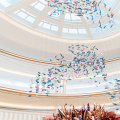 Customization colorful hotel lobby crystal chandelier light