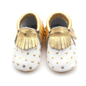 Cute Wholesale Genuine Leather Baby Moccasins Shoes