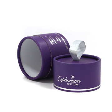 Round Candle Paper Box With Ribbon Handle