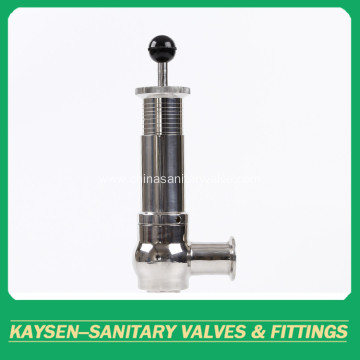 Sanitary pneumatic pressure relieves safety valves