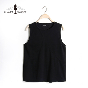 Lightweight Black Solid Vest for Ladies