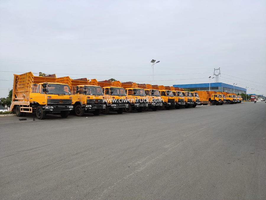 swing arm garbage truck factory