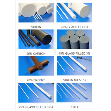 Virgin Ptfe Rod/Extruded/Molded