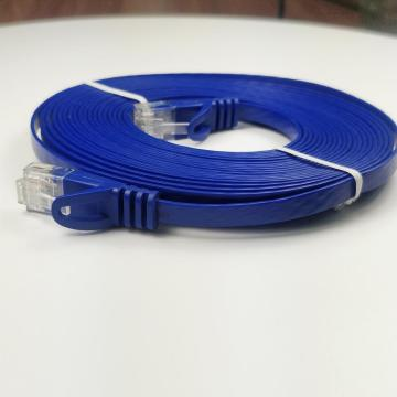Cat6 Flat Computer Cable with Snagless RJ45 Plug