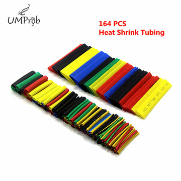 164Pcs Color Polyolefin Shrink Heat Shrinkable Tube Wire Cable Insulation Sleeve Group/16~14AWG Male Female Bullet Connector