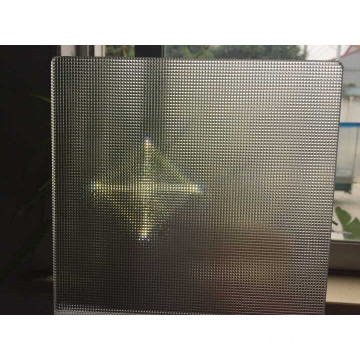 Polycarbonate prism transparent light spot irradiation panel