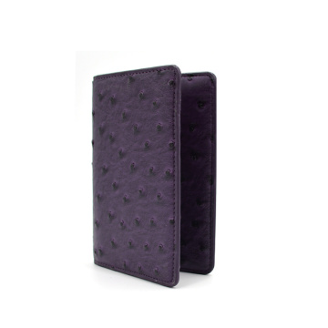 Hot Sale Portable Ostrich Leather Passport Holder Cover