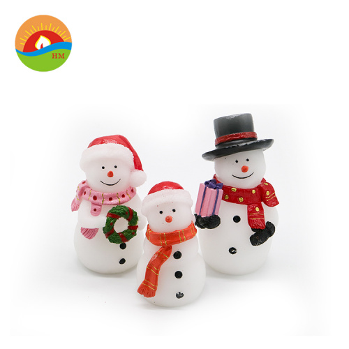christmas party decoration candles snowman style led candles