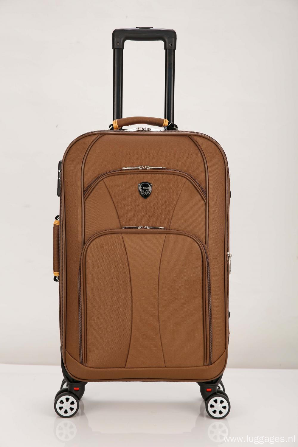 Double front pockets fabric Trolley Luggage