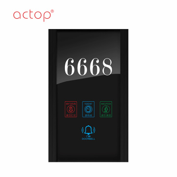 Beautiful door plate for hotel guest room Control Smart hotel
