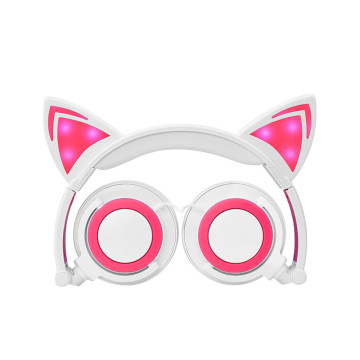 glowing cat ear professional headphone for kids