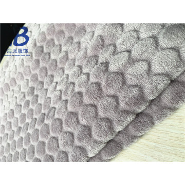 KNITTED POLYESTER EMBOSS FLANNEL