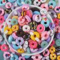 New Cute 10Pcs Slime filler Cream donut Accessories Phone Case Decoration for Slime Filler Miniature Resin Random