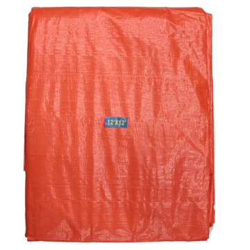 Both Sides Bright Orange Tarpaulin Sheet