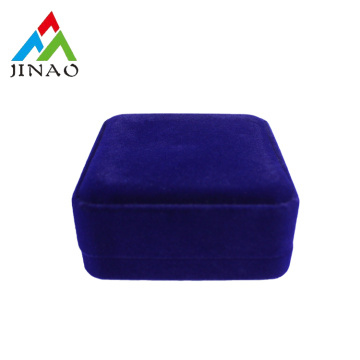 Luxus Dark Blue Velvet Plastic Bangle Box