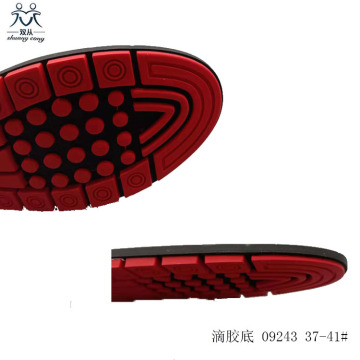 Red pvc shoes sole