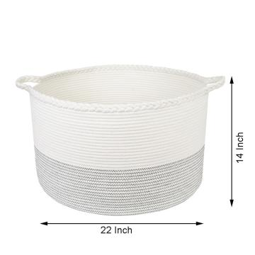 Food Storage Baskets Basket Cotton Rope With Ear Handles