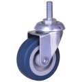 Small size thread stem caster wheels