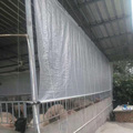 Clear 6 mil polyethylene film greenhouse cover